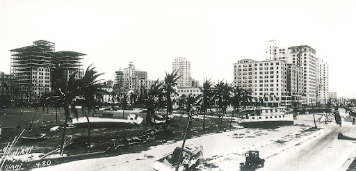 Biscayne Boulevard after Great Miami Hurricane 1926