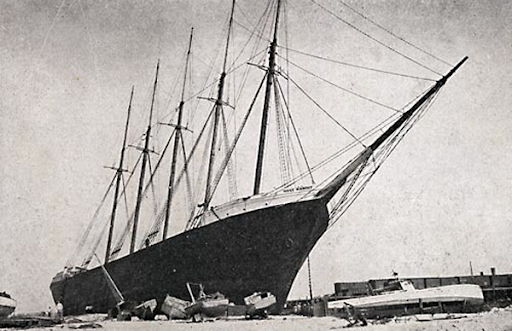 Schooner pushed ashore by 1926 Miami Hurricane