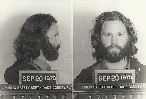 Jim Morrison Miami Mug Shot