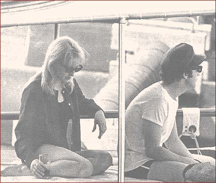 John and Cynthia Lennon in boat
