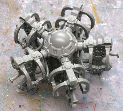 Space Marine drop pod console