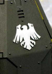 Space marine drop pod door icon painted