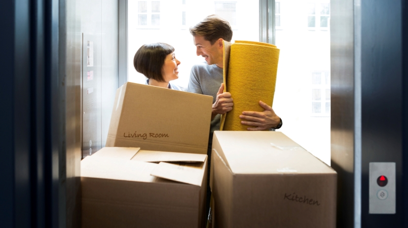 Moving in New Jersey might mean you have to use an elevator to move into your new home.