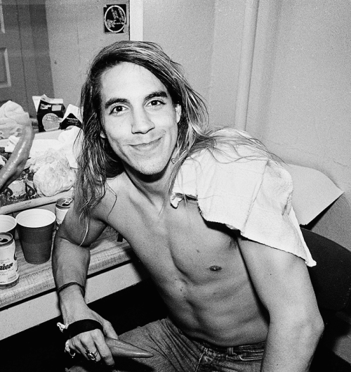 Anthony Kiedis sitting and relaxing.