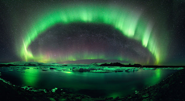 Auroras, reflections, galaxies and star clusters from Astronomy Picture of the Day