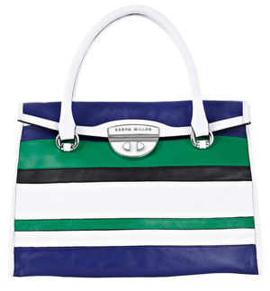Karen Millen Colourblock Stripe Box Bag