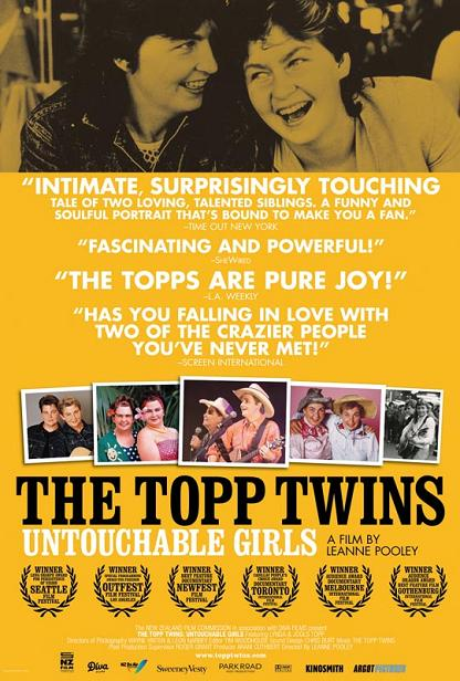 The Topp Twins: Untouchable Girls, poster, Leanne Pooley
