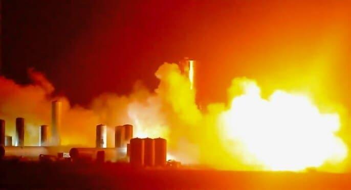 Imagen del lanzamiento del prototipo de Space X