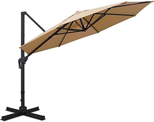 Sunnyglade 11FT Cantilever Patio Umbrella Round Deluxe Offset Umbrella