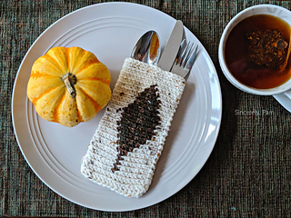 cutlery pouch crochet pattern for thanksgiving
