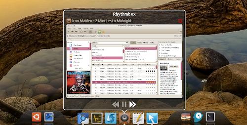 DockBarX rhythmbox controls