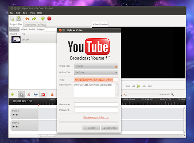 OpenShot YouTube upload