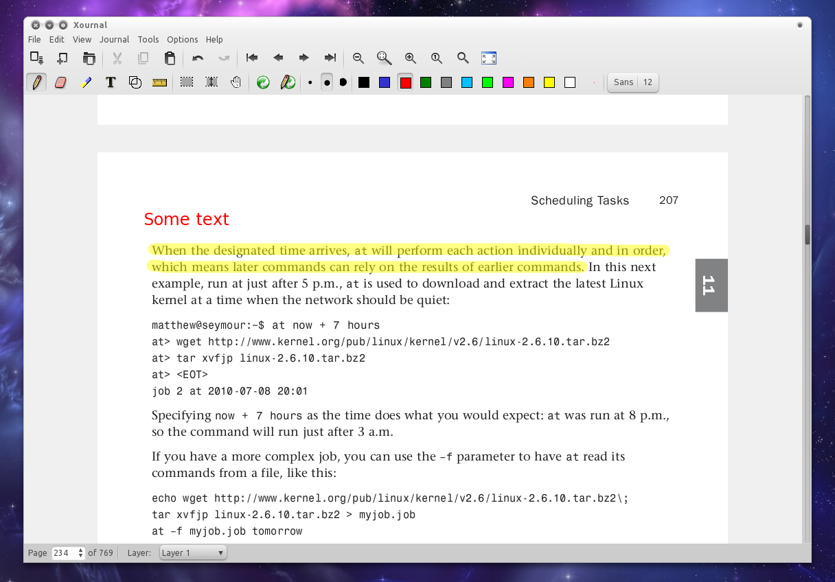 Highlight Text Or Annotate PDF Files In Ubuntu With Xournal ~ Web