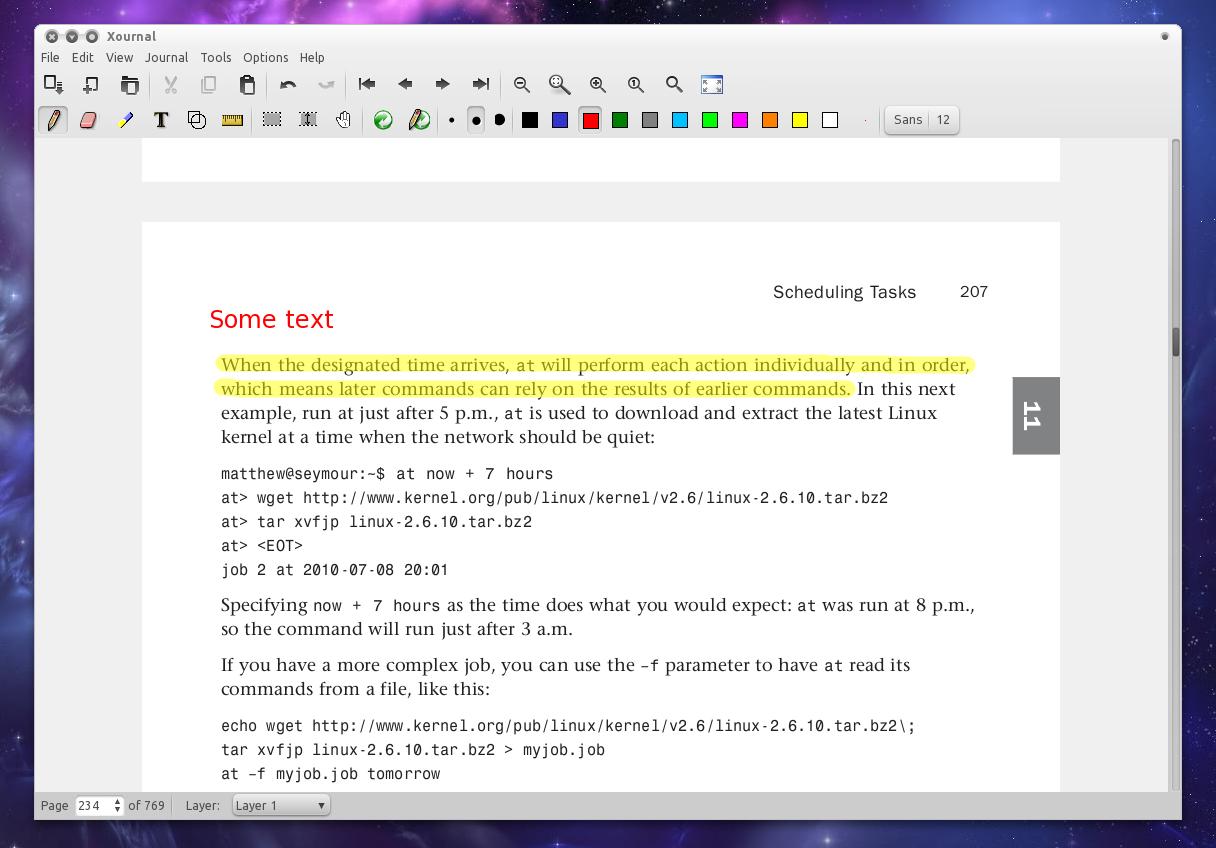 Line pdf command ubuntu