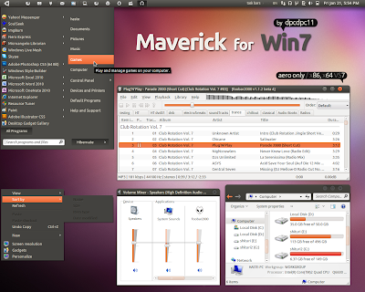 Maverick for Windows 7 theme