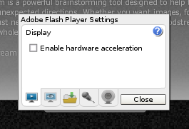 Disable hardware acceleration Adobe Flash