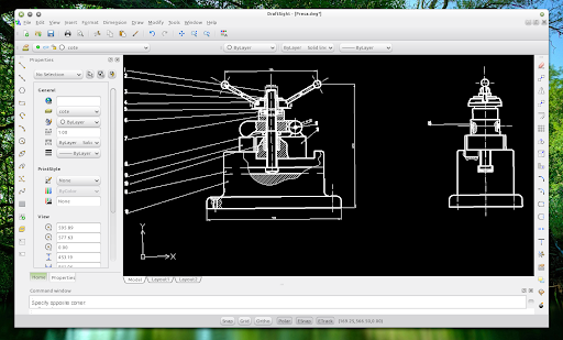 Linux unix download draftsight free autocad compatible for Online cad drawing software