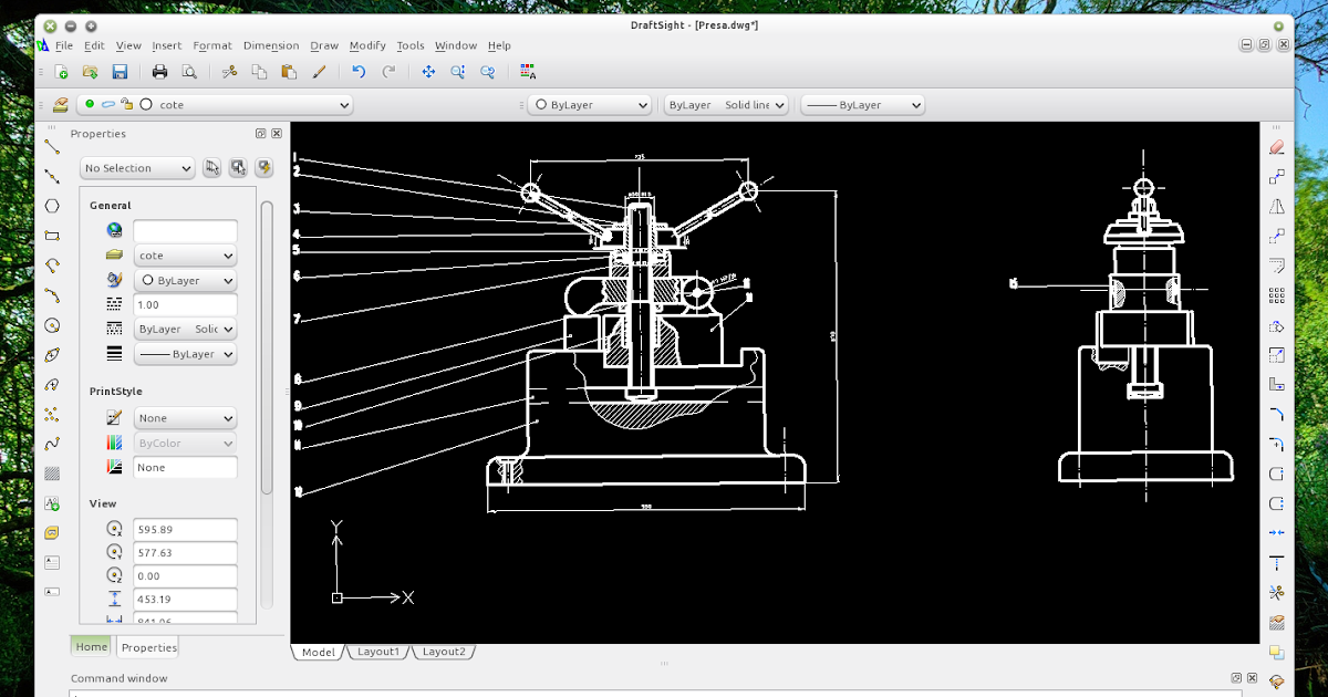 Download draftsight free autocad compatible 2d cad software for linux web upd8 ubuntu for Online cad program