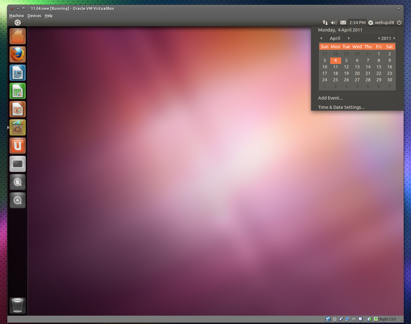 How To Test Ubuntu 11 04 With Unity In VirtualBox 4 0 ~ Web Upd8