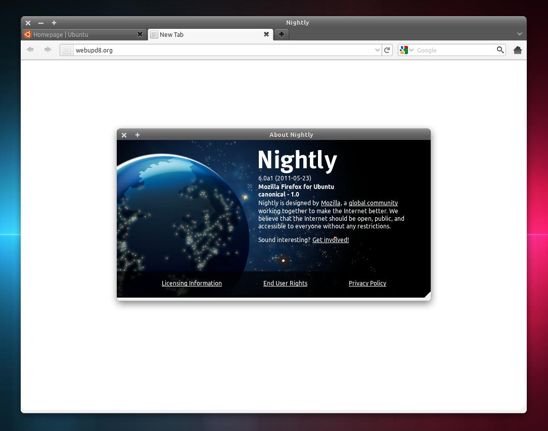 Firefox Daily Build 60 Ubuntu