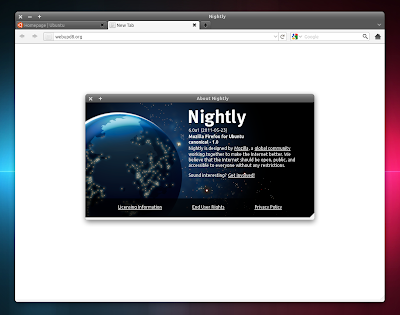 Firefox Daily build 6.0 Ubuntu