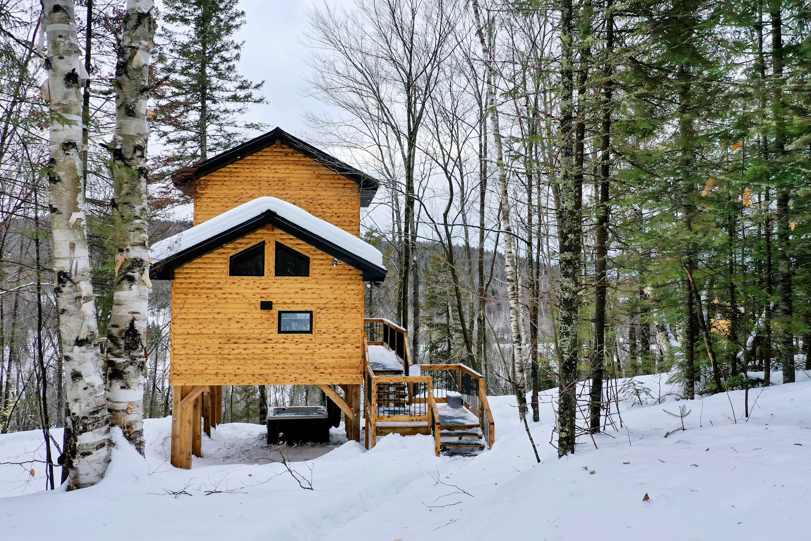 Cottages for rent with Spa for 4 people in Quebec #2