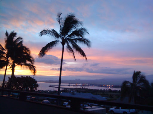 View at dawn in Maui
