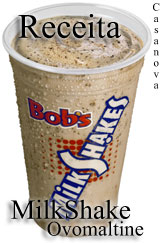 Receita do MilkShake de Ovomaltine do Bobs