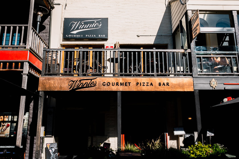 The best restaurant for pizza in Queenstown, Winnie's.