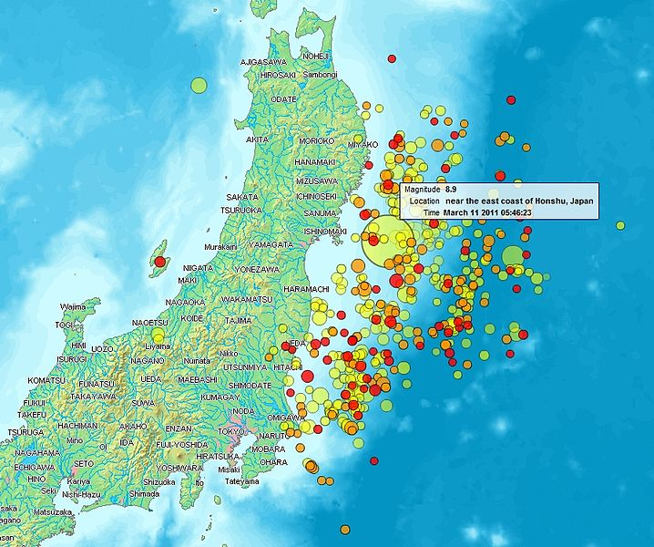 แผนที่แผ่นดินไหว