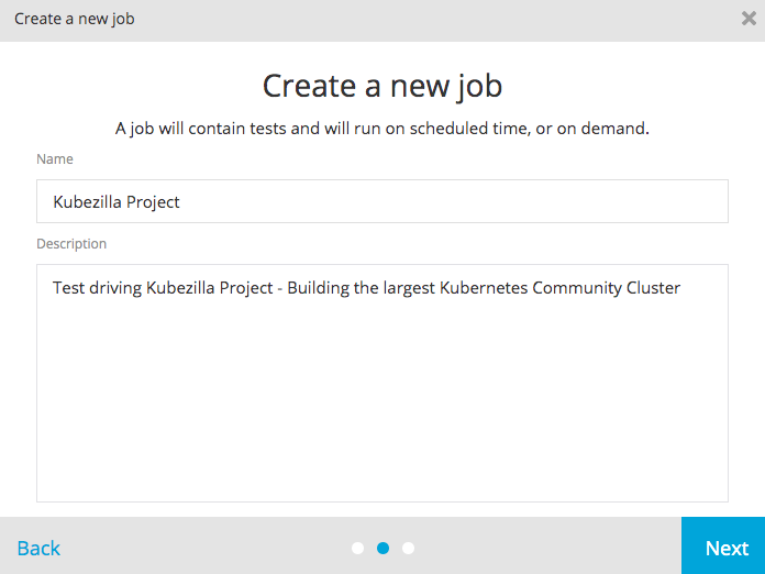Create a Job in TestProject