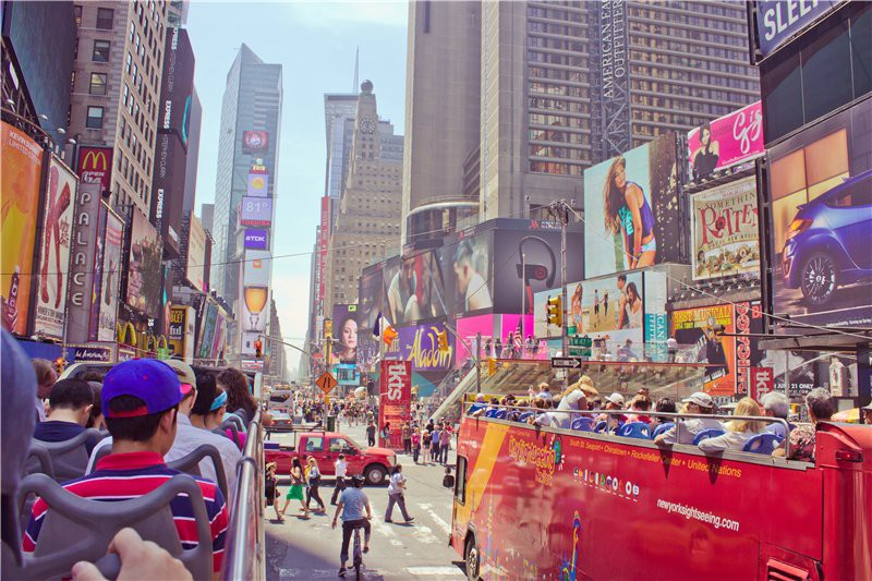 Таймс сквер днем. США глазами туриста, туризм, факты