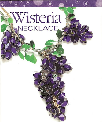 Wisteria Aluminum Necklace by Helen Harle