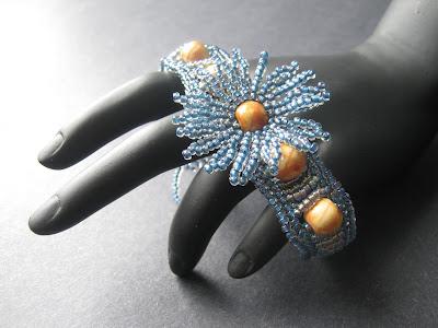 Blue Jeans Corsage Bracelet