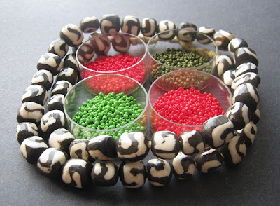 Kenya Bone and Seed Bead Palette