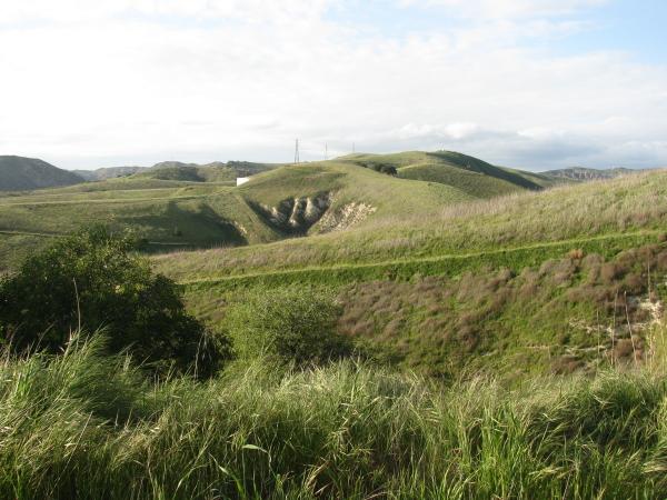 ridge to the north