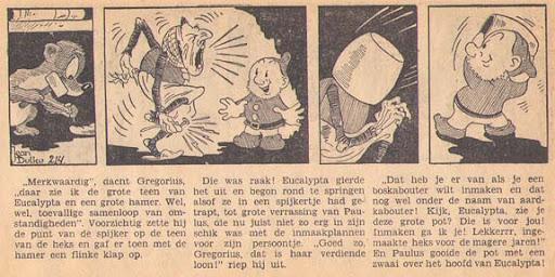 Een Paulus stripje uit het Vrije Volk