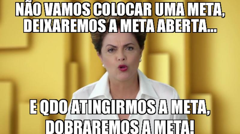 Meme da ex-presidente Dilma.