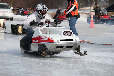 Snowmobile drag racing -- Motorsports in photography-on-the