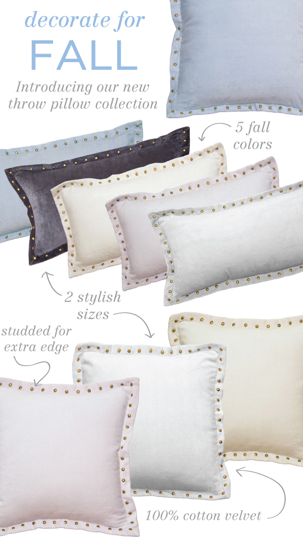 Today We Introduce Our Collection Of Studded Throw Pillows Just In Time For Fall Available 5 Colors 2 Diffe Sizes And Finished Edgy Details