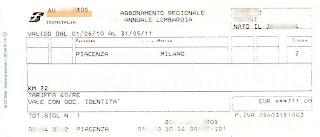 Abbonamento Piacenza-Milano