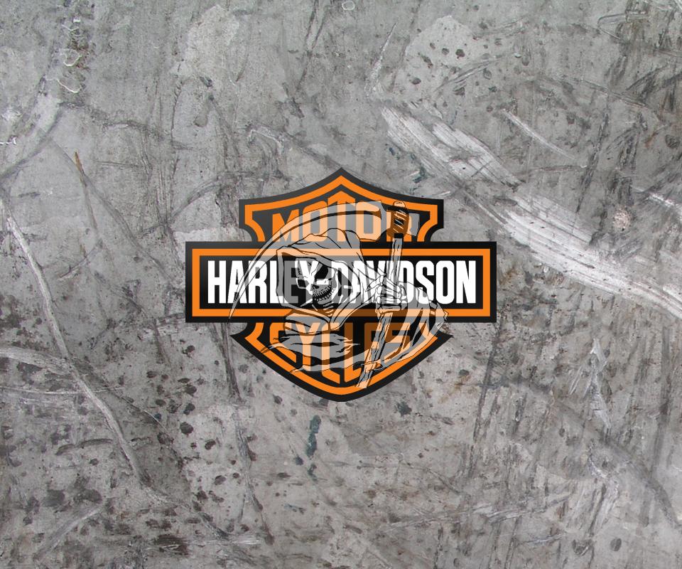 Harley Davidson Logo With Flames Download