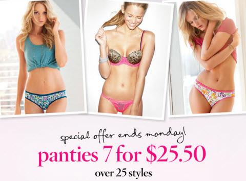 victorias secret panties discount