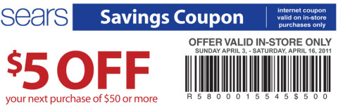 sears printable coupon april 2011