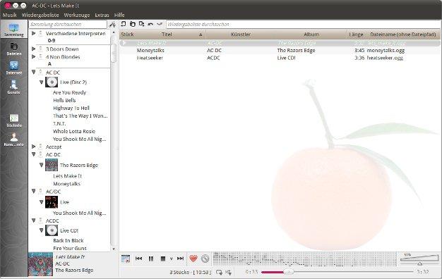 Ubuntu Linux Audioplayer Clementine