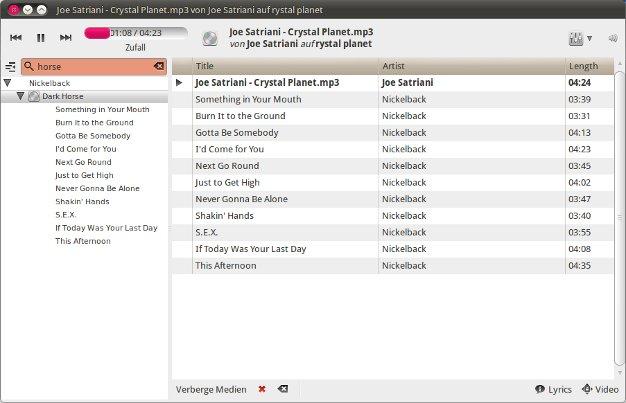 Ubuntu Linux Audioplayer XNoise