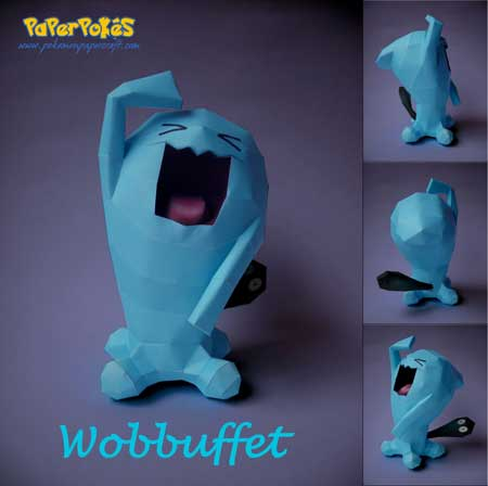 Pokemon Wobbuffet Papercraft