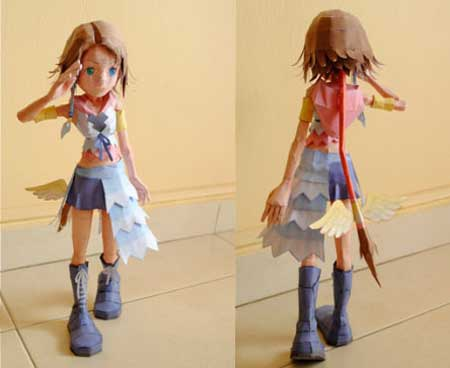 Kingdom Hearts 2 Chibi Yuna Papercraft