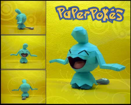 Pokemon Wynaut Papercraft