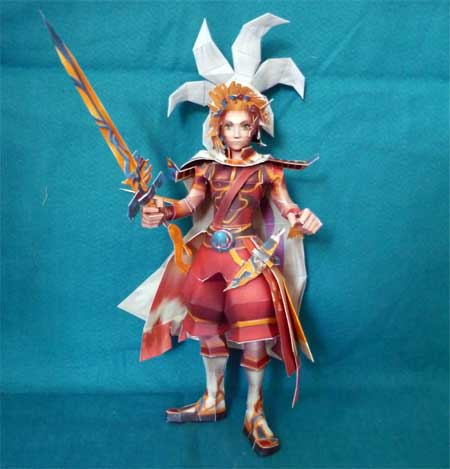 Dissidia Final Fantasy Onion Knight Papercraft
